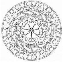 Rosetón de otoño - Dibujos para Colorear y Pintar - Dibujos para colorear MANDALAS - MANDALAS ROSETON para colorear