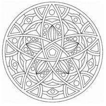 Mandala Arcos y pentagonos - Dibujos para Colorear y Pintar - Dibujos para colorear MANDALAS - MANDALAS para niños para colorear