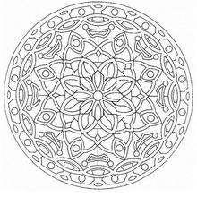 Dibujo para colorear : Mandala Hermosa flor