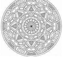 Mandala Trensas y estrellas - Dibujos para Colorear y Pintar - Dibujos para colorear MANDALAS - Dibujos de MANDALA ESTRELLA para colorear