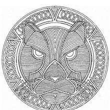 Mandala Puma - Dibujos para Colorear y Pintar - Dibujos para colorear MANDALAS - Dibujos de MANDALAS DE ANIMALES para colorear
