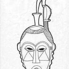 Mandala Máscara africana para imprimir - Dibujos para Colorear y Pintar - Dibujos para colorear MANDALAS - Dibujos de MANDALAS para imprimir