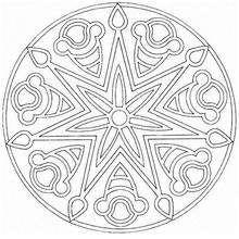 Mandala Estrella y flor - Dibujos para Colorear y Pintar - Dibujos para colorear MANDALAS - Dibujos de MANDALA ESTRELLA para colorear