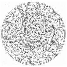 Mandala Universo - Dibujos para Colorear y Pintar - Dibujos para colorear MANDALAS - Dibujos de MANDALAS INFANTILES para colorear