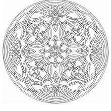 Mandala Geometría celta - Dibujos para Colorear y Pintar - Dibujos para colorear MANDALAS - MANDALAS para niños para colorear