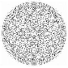 Mandala Badiana - Dibujos para Colorear y Pintar - Dibujos para colorear MANDALAS - MANDALAS DE FLORES para colorear