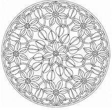 Mandala Flores de verano - Dibujos para Colorear y Pintar - Dibujos para colorear MANDALAS - MANDALAS DE FLORES para colorear