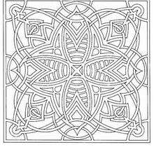 Dibujo para colorear : Mandala Rayas de abejas