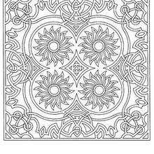 Dibujos Para Colorear Mandala Estrellas Y Círculos Eshellokidscom