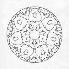 Mandala Tulipanes - Dibujos para Colorear y Pintar - Dibujos para colorear MANDALAS - MANDALAS DE FLORES para colorear