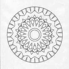 Mandala Luna llena y sol - Dibujos para Colorear y Pintar - Dibujos para colorear MANDALAS - Dibujos de MANDALA ESTRELLA para colorear