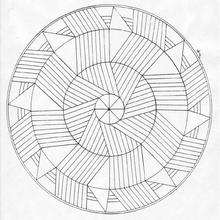 Mandala Líneas y curvas - Dibujos para Colorear y Pintar - Dibujos para colorear MANDALAS - MANDALAS para niños para colorear