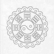 Mandala Rectángulos y círculos - Dibujos para Colorear y Pintar - Dibujos para colorear MANDALAS - MANDALAS para niños para colorear
