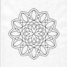 Mandala  Perlas y flores - Dibujos para Colorear y Pintar - Dibujos para colorear MANDALAS - MANDALAS DE FLORES para colorear