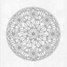 Mandala  Campo de flores - Dibujos para Colorear y Pintar - Dibujos para colorear MANDALAS - MANDALAS DE FLORES para colorear
