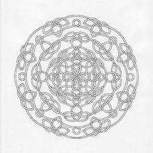 Mandala Hilo y nudos para imprimir - Dibujos para Colorear y Pintar - Dibujos para colorear MANDALAS - Dibujos de MANDALAS para imprimir