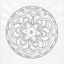 Mandala Arcos y círculos - Dibujos para Colorear y Pintar - Dibujos para colorear MANDALAS - MANDALAS para niños para colorear