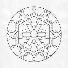 Mandala Símbolo de la nieve - Dibujos para Colorear y Pintar - Dibujos para colorear MANDALAS - Dibujos de MANDALAS INFANTILES para colorear