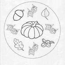 Mandala Otoño - Dibujos para Colorear y Pintar - Dibujos para colorear MANDALAS - Dibujos de MANDALAS DE HALLOWEEN para colorear