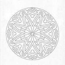 Dibujo para colorear : Mandala rosetón