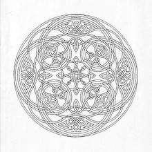 Mandala Laberinto y triskeles - Dibujos para Colorear y Pintar - Dibujos para colorear MANDALAS - Dibujos de MANDALAS INFANTILES para colorear