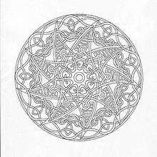 Dibujo para colorear : Rosetón laberinto