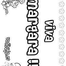 Nombre de niña para pintar : MARGARA