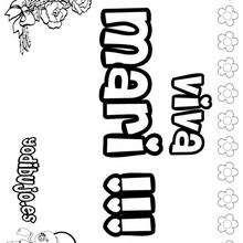 MARI colorear nombres niñas - Dibujos para Colorear y Pintar - Dibujos para colorear NOMBRES - Dibujos para colorear NOMBRES NIÑAS