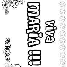MARIA colorear nombres niñas - Dibujos para Colorear y Pintar - Dibujos para colorear NOMBRES - Dibujos para colorear NOMBRES NIÑAS