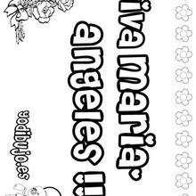 Maria Angeles - Dibujos para Colorear y Pintar - Dibujos para colorear NOMBRES - Dibujos para colorear NOMBRES NIÑAS