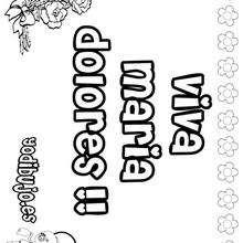 MARIA DOLORES colorear nombres niñas - Dibujos para Colorear y Pintar - Dibujos para colorear NOMBRES - Dibujos para colorear NOMBRES NIÑAS