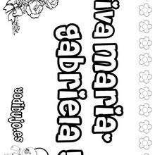 MARIA GABRIELA colorear nombres niñas - Dibujos para Colorear y Pintar - Dibujos para colorear NOMBRES - Dibujos para colorear NOMBRES NIÑAS