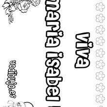 MARIA ISABEL colorear nombres niñas - Dibujos para Colorear y Pintar - Dibujos para colorear NOMBRES - Dibujos para colorear NOMBRES NIÑAS