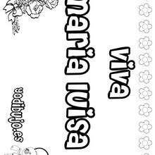 MARIA LUISA colorear nombres niñas - Dibujos para Colorear y Pintar - Dibujos para colorear NOMBRES - Dibujos para colorear NOMBRES NIÑAS