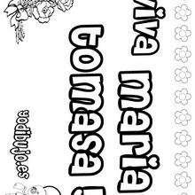 MARIA TOMASA colorear nombres niñas - Dibujos para Colorear y Pintar - Dibujos para colorear NOMBRES - Dibujos para colorear NOMBRES NIÑAS