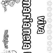 MARIANELA colorear nombres niñas - Dibujos para Colorear y Pintar - Dibujos para colorear NOMBRES - Dibujos para colorear NOMBRES NIÑAS