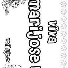 MARIJOSE colorear nombres niñas - Dibujos para Colorear y Pintar - Dibujos para colorear NOMBRES - Dibujos para colorear NOMBRES NIÑAS