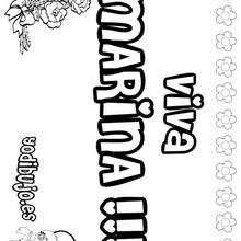 MARINA colorear nombres niñas - Dibujos para Colorear y Pintar - Dibujos para colorear NOMBRES - Dibujos para colorear NOMBRES NIÑAS