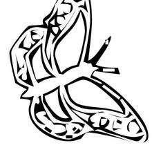 Colorear y dibujar una mariposa rosada - Dibujos para Colorear y Pintar - Dibujos para colorear ANIMALES - Dibujos INSECTOS para colorear - Dibujos para colorear MARIPOSAS - Colorear MARIPOSA ROSA
