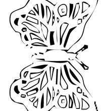 Dibujo para colorear : Mariposa gráfica
