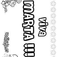 MARTA colorear nombres niñas - Dibujos para Colorear y Pintar - Dibujos para colorear NOMBRES - Dibujos para colorear NOMBRES NIÑAS