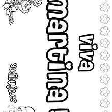 MARTINA colorear nombres niñas - Dibujos para Colorear y Pintar - Dibujos para colorear NOMBRES - Dibujos para colorear NOMBRES NIÑAS