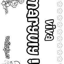 MARYULY colorear nombres niñas - Dibujos para Colorear y Pintar - Dibujos para colorear NOMBRES - Dibujos para colorear NOMBRES NIÑAS