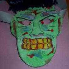 Manualidad infantil : Mascara de Frankenstein