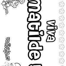 MATILDE colorear nombres niñas - Dibujos para Colorear y Pintar - Dibujos para colorear NOMBRES - Dibujos para colorear NOMBRES NIÑAS