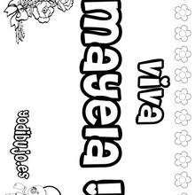 MAYELA colorear nombres niñas - Dibujos para Colorear y Pintar - Dibujos para colorear NOMBRES - Dibujos para colorear NOMBRES NIÑAS