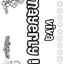 MAYERLY colorear nombres niñas - Dibujos para Colorear y Pintar - Dibujos para colorear NOMBRES - Dibujos para colorear NOMBRES NIÑAS