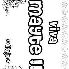 MAYTE colorear nombres niñas - Dibujos para Colorear y Pintar - Dibujos para colorear NOMBRES - Dibujos para colorear NOMBRES NIÑAS