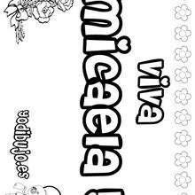MICAELA colorear nombres niñas - Dibujos para Colorear y Pintar - Dibujos para colorear NOMBRES - Dibujos para colorear NOMBRES NIÑAS