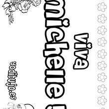 MICHELLE colorear nombres niñas - Dibujos para Colorear y Pintar - Dibujos para colorear NOMBRES - Dibujos para colorear NOMBRES NIÑAS